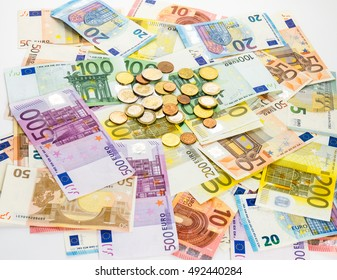 money euro banknotes and coins
