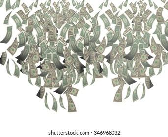 money falling sky