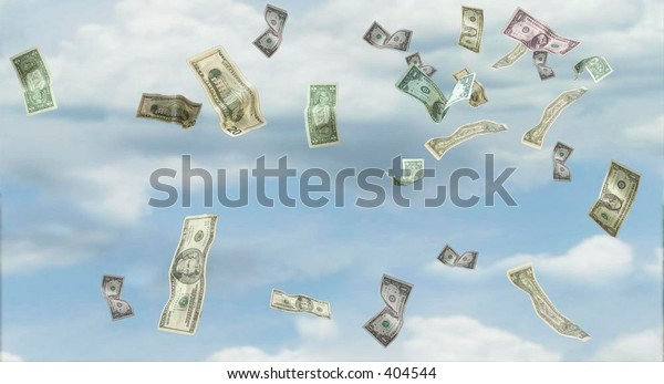 Money falling from the sky