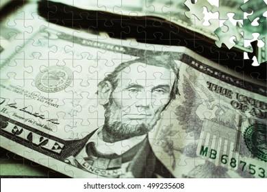 Money Five Dollars Close Up
