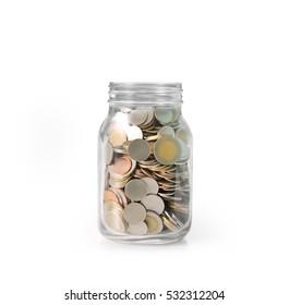 money in glass piggy a bank
