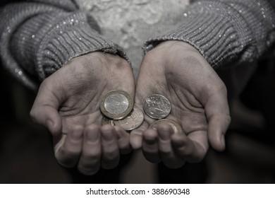 Money in the hands of the poor