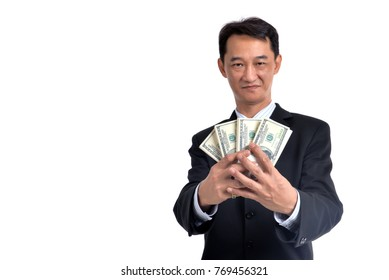 A lot of money in the hands of a young businessman.