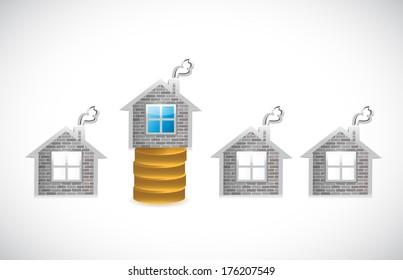 money house. money home illustration design over a white background