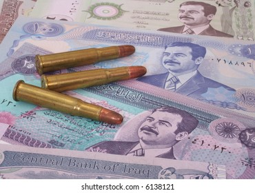 Money From Iraq With Saddam Hussein and Bullets