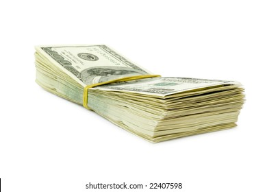 lot of money isolated on white