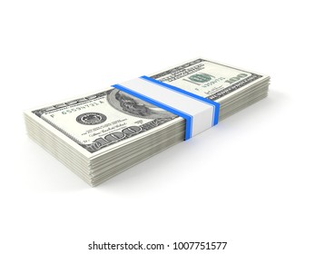 Money isolated on white background. 3d illustration
