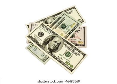 money isolated on a white background