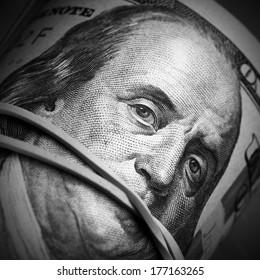 Money keeps silent concept