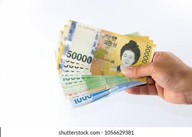 Money in Korea, WON, KRW, Pay, exchange money