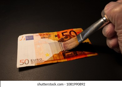 Money laundering in offshore or counterfeit money. Illegal use or manufacture of the euro.