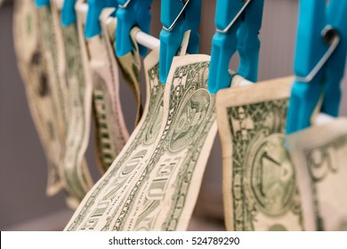 Money Laundering/ US dollars hung out to dry