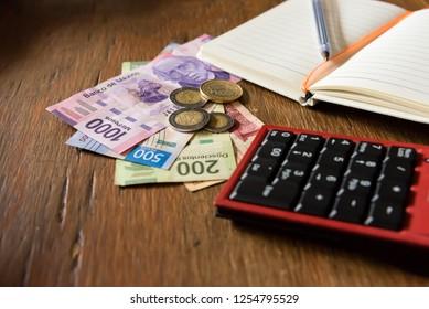 Money - Mexican pesos - income, budget