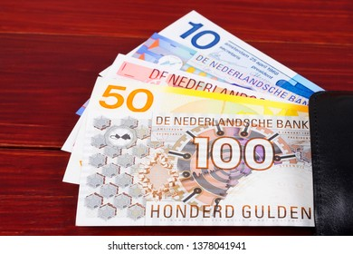 Money from the Netherlands in the black wallet