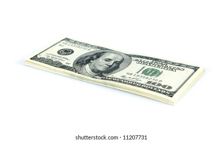 Money on the white background