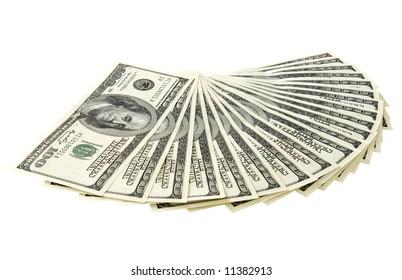 Money on the white background