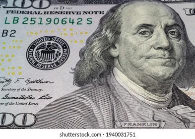 Money. One hundred dollar bill.
