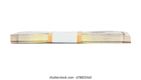 Money pack isolated on white background