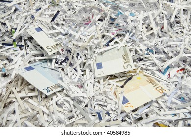 money as paper for recycling