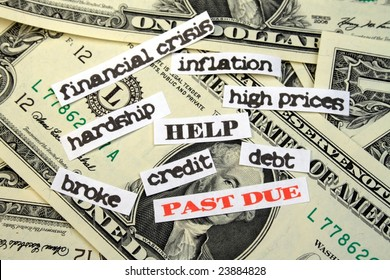Money with PAST DUE debt HELP financial crisis inflation high prices hardship credit broke