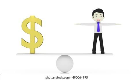 money people 3d rendering