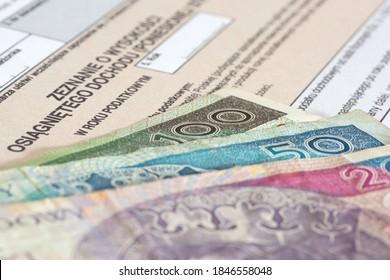 polnische Übersetzung des PIT-Formulars für Steuererklärungen in Polen