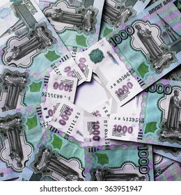 Money Russian banknotes dignity thousand background