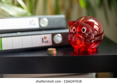 Money saving tactics with piggy bank