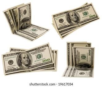 money set isolated on white background