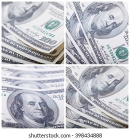 Money set. Shooting money closeup with macro lens. Business concept. Selective focus, blurred background