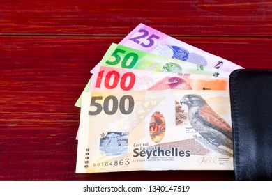 Money from Seychelles in the black wallet
