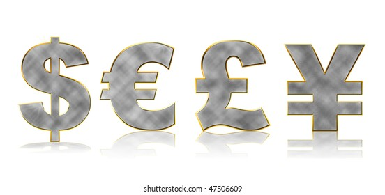 Money sign isolated on a white background
