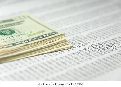 Geld und Tabelle