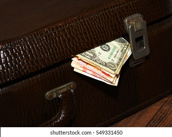 The money in the suitcase