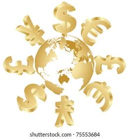 money symbols around the world