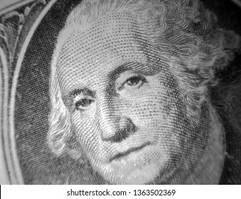 Money. US Money. Microscopic View of US One Dollar Bill. Extreme close up. Microscopic photography.