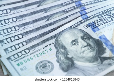 Money USA dollar banknotes for background.Money is any item or verifiable record that is generally accepted as payment for goods and services and repayment of debts