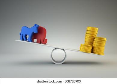 Money vs politics