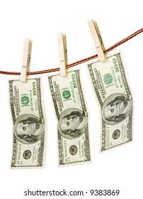 Money-laundering concept