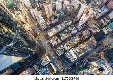 Mong Kok, Hong Kong 04 September 2018:-Top view of Hong Kong