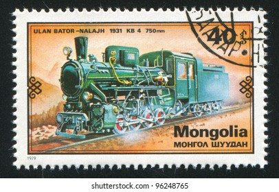 MONGOLIA - CIRCA 1979: stamp printed by Mongolia, shows  locomotive, circa 1979