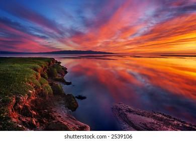 Mongolia sunset