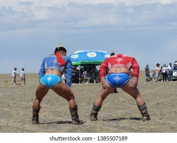Mongolia/17-06-2017 Mongolian wrestling at countryside Nadaam festival