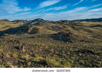 Mongolian desert Gobi with its awesome hills