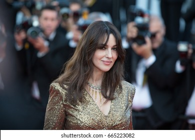 Monica Bellucci  attends the 70th Anniversary screening  premiere for at the 70th Festival de Cannes. May 23, 2017 Cannes, France
