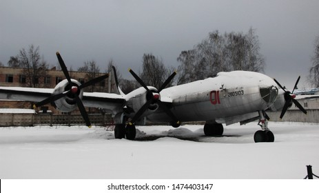Monino, Moscow region, Russia. February 13, 2016. Long-range heavy bomber Tu-4 in the open air at the air force Museum in Monino