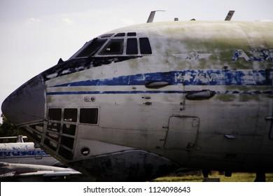 Monino/Russia - 06.12.2018: Cargo military plane