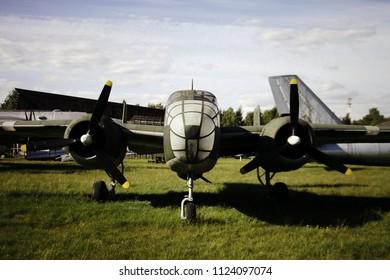 Monino/Russia - 06.12.2018: Old military plane