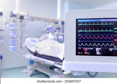 Monitor of clock surveillance patient in the ICU