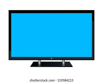 Monitor icon. Raster version of vector illustration.